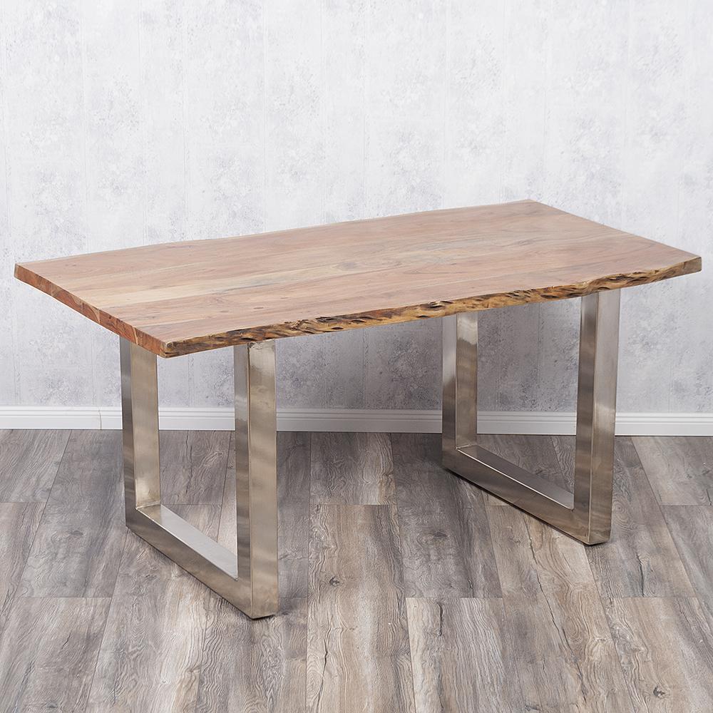 Esstisch edelstahl simple esstisch aus akazie massivholz for Tisch marmoroptik