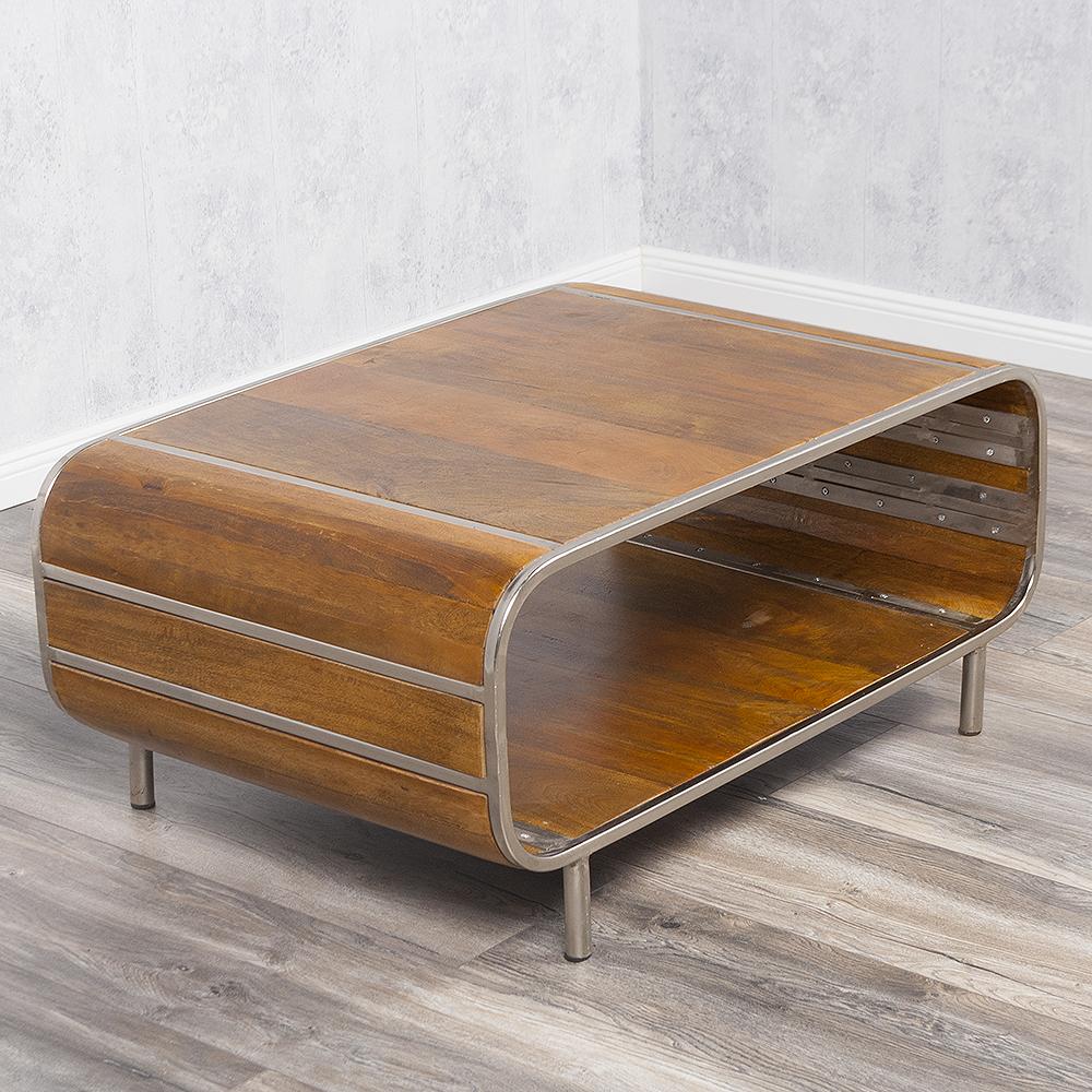 couchtisch rajendra stone s massiv mangoholz retro stil sofatisch tisch tv board ebay. Black Bedroom Furniture Sets. Home Design Ideas