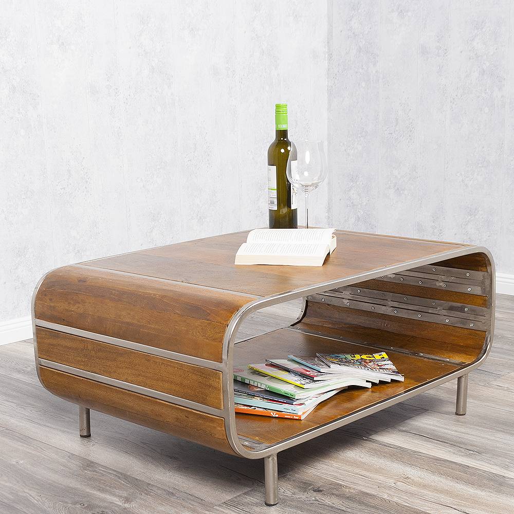 couchtisch rajendra stone s massiv mangoholz retro stil sofatisch tisch tv board ebay. Black Bedroom Furniture Sets. Home Design Ideas