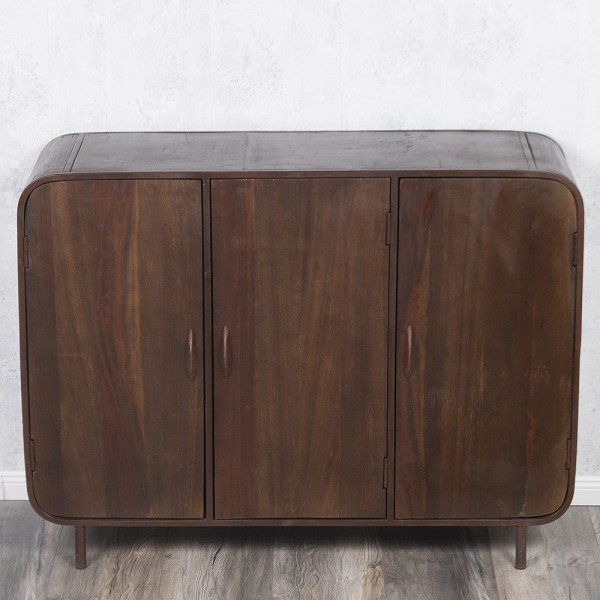 Sideboard RAJENDRA in Natur-S aus Recycled Wood Retro-Stil Kommode 120cm – Bild 6