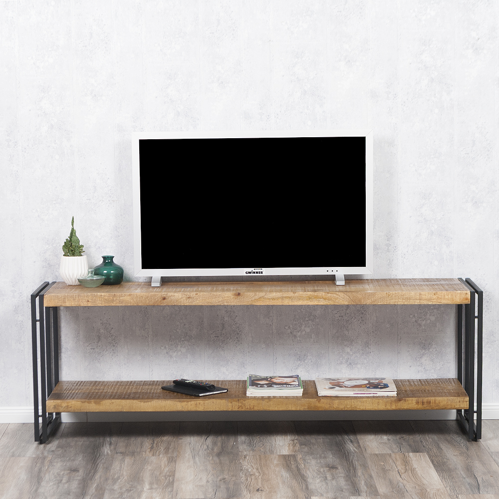 sideboard durar mango rough massiv industrial design 180cm. Black Bedroom Furniture Sets. Home Design Ideas