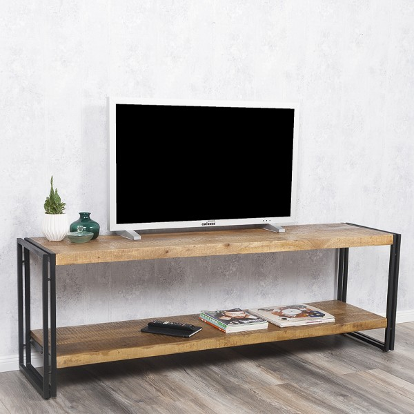 Sideboard DURAR in Mango-Rough aus massivem Mangoholz Industrial-Design 180x45cm – Bild 1