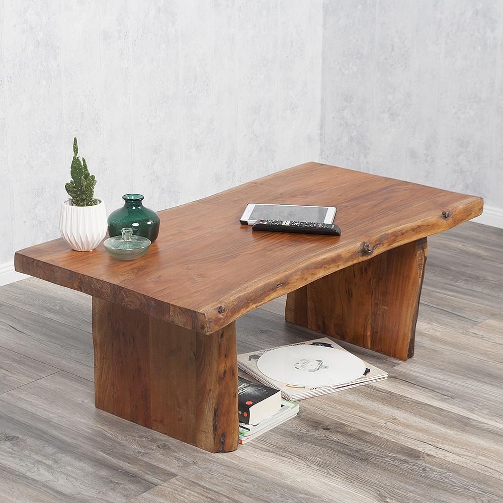 couchtisch ekto aus massiver akazie in natural 120x60cm 6420. Black Bedroom Furniture Sets. Home Design Ideas
