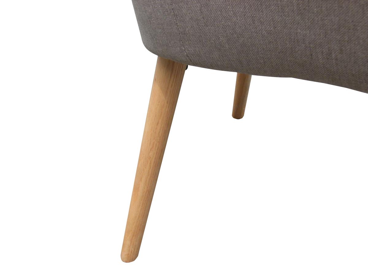 armlehnstuhl anny light grey stoffbezug retro 6462. Black Bedroom Furniture Sets. Home Design Ideas