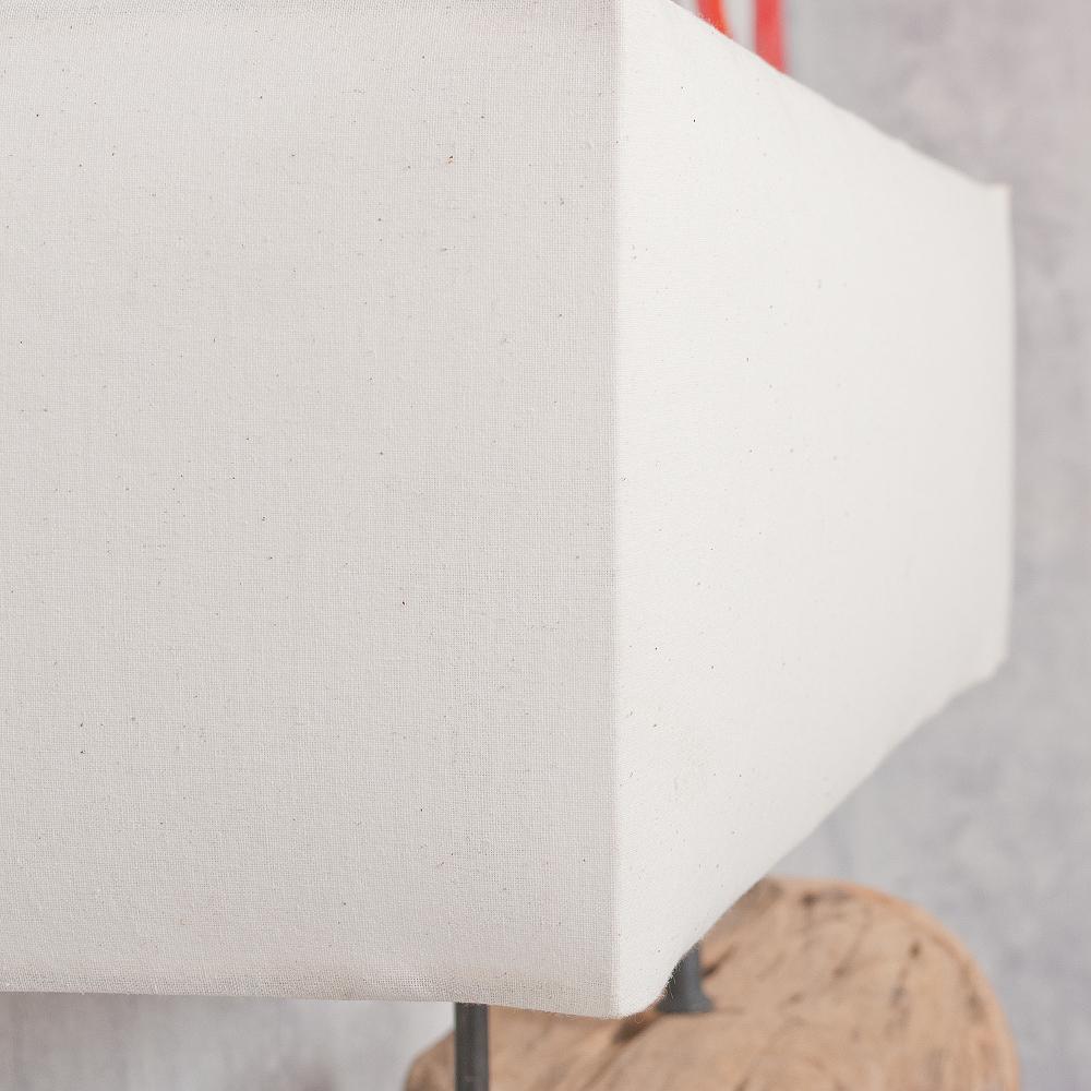 tischleuchte drift tischlampe teak holz massiv urig. Black Bedroom Furniture Sets. Home Design Ideas