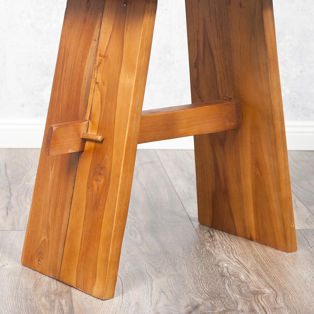 teakholz hocker kerusi natural massiv handarbeit 6483. Black Bedroom Furniture Sets. Home Design Ideas