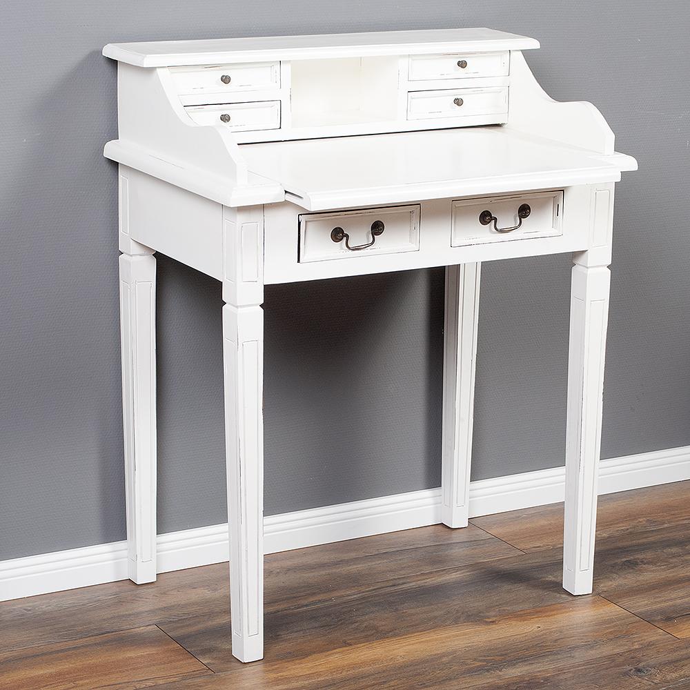 sekret r ilena antique white ca 90cm keruing massivholz. Black Bedroom Furniture Sets. Home Design Ideas