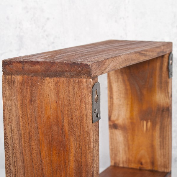 Cube / Wandregal TINI 50x40cm Recycled Wood – Bild 5
