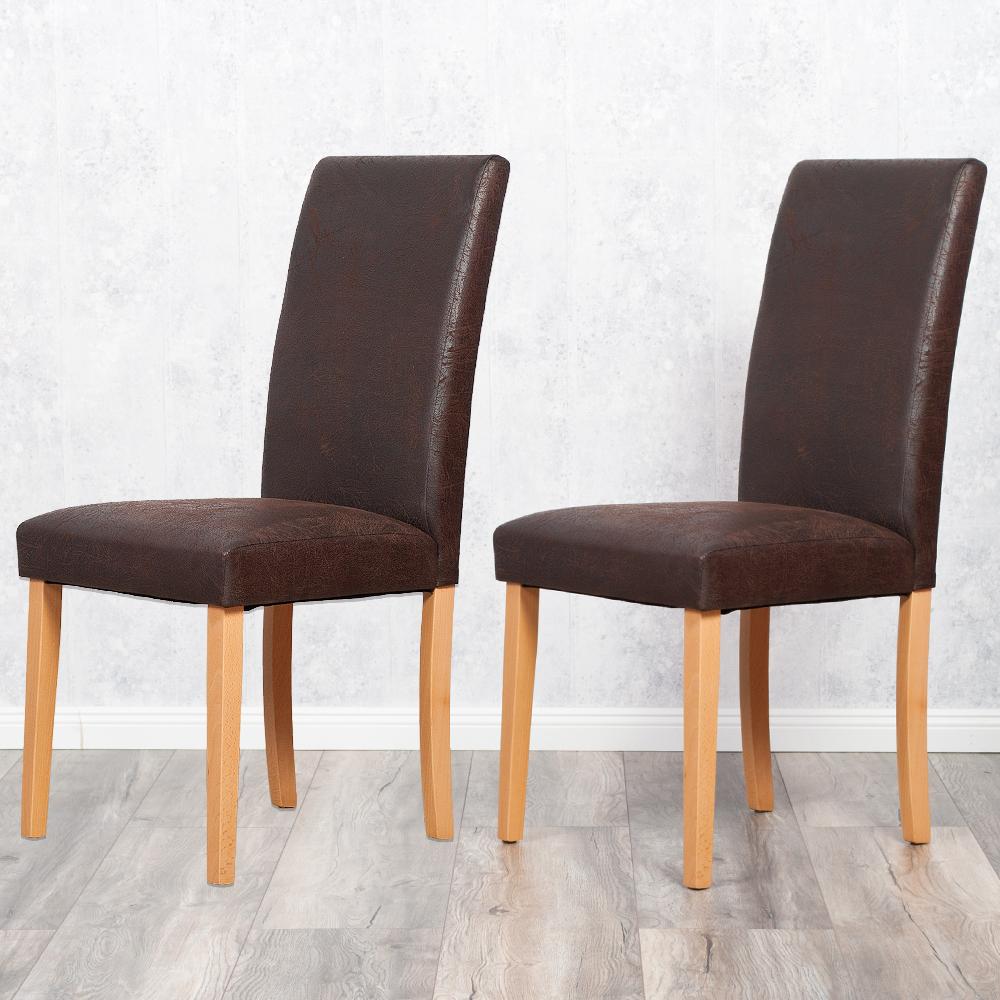 Ansprechend Esszimmerstühle Leder Referenz Von 2er Set Stuhl Roko Demont 1 Antik