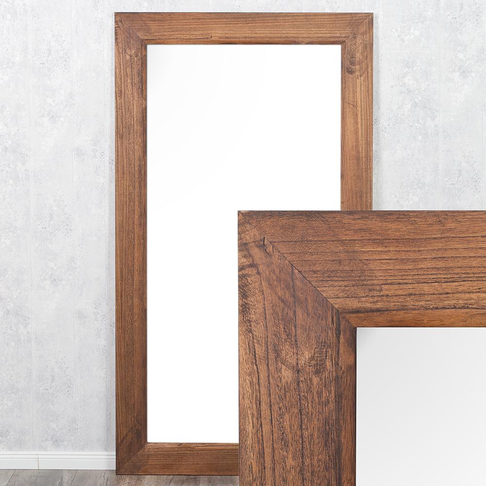 Spiegel linda 200x110cm flamed wood blauglockenbaum holz for Spiegel 200 x 100
