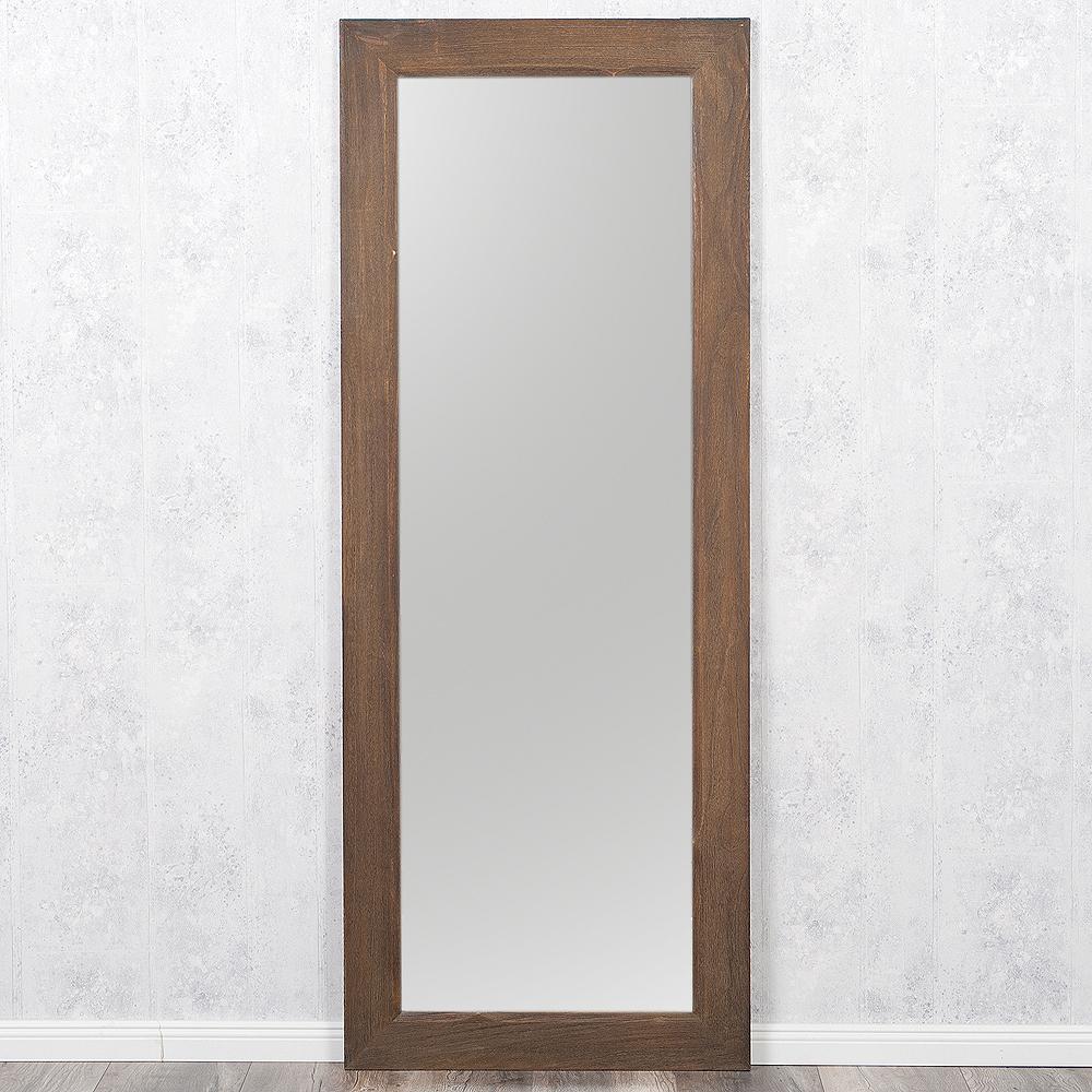 spiegel linda 180x70cm dark natural blauglockenbaum holz massiv wandspiegel ebay. Black Bedroom Furniture Sets. Home Design Ideas