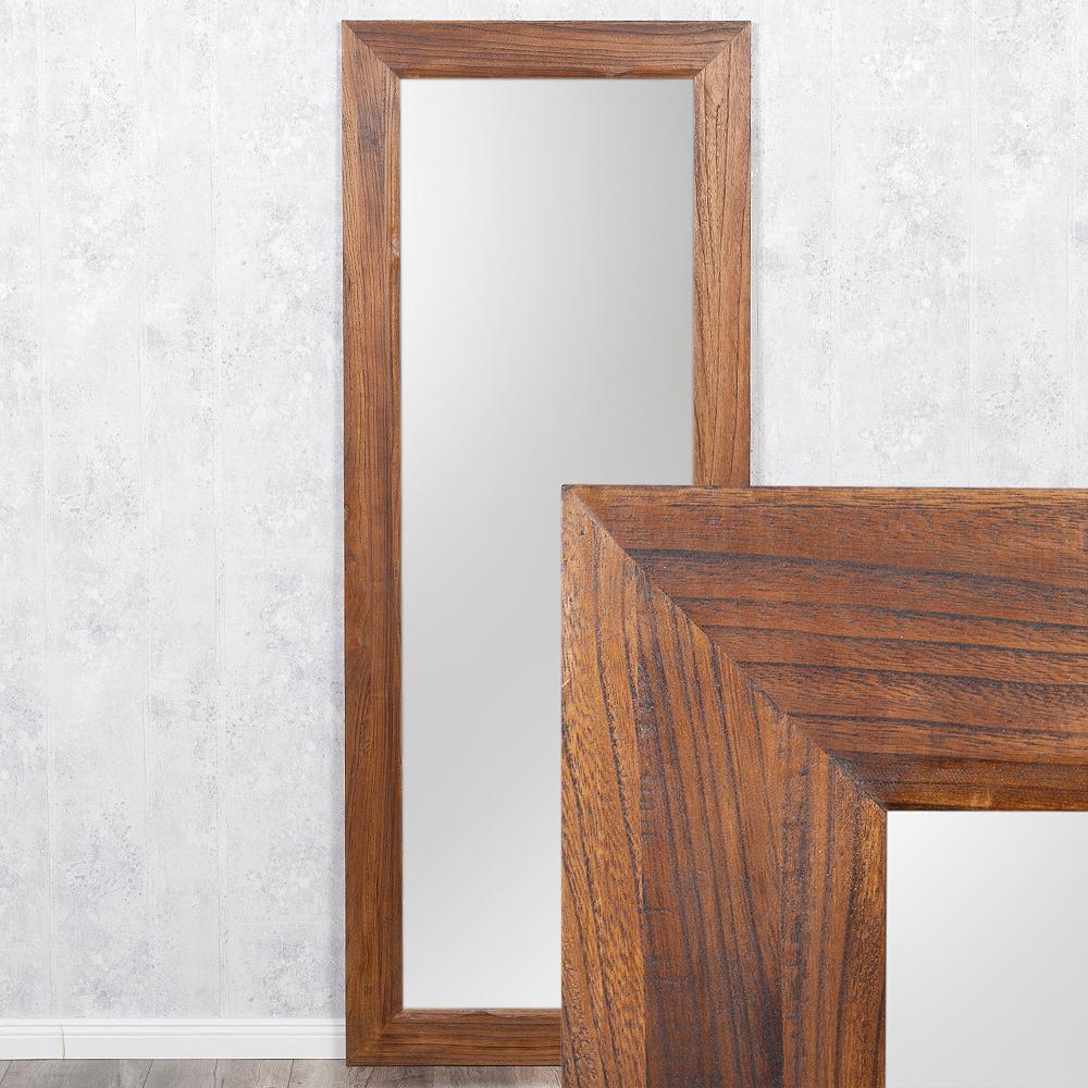 spiegel linda 180x70cm flamed wood blauglockenbaum holz massiv wandspiegel ebay. Black Bedroom Furniture Sets. Home Design Ideas