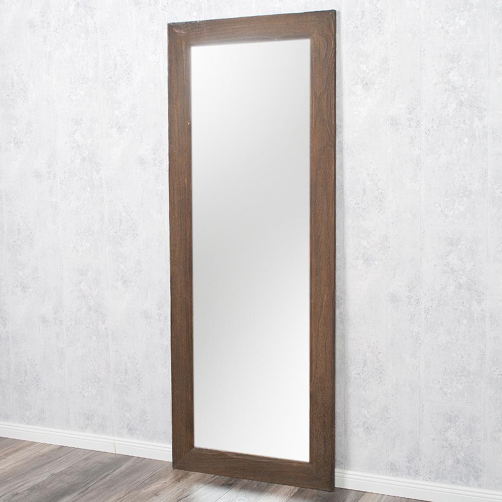 Spiegel linda 160x60cm dark natural blauglockenbaum holz for Spiegel 160x60
