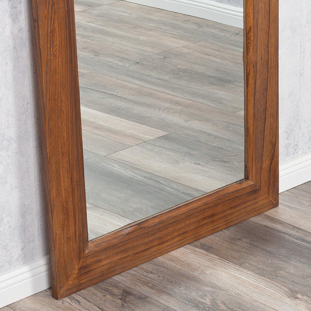 Spiegel linda 160x60cm flamed wood blauglockenbaum holz for Spiegel 160x60