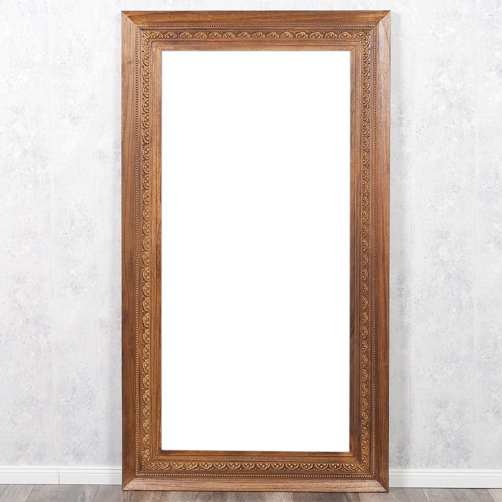 Spiegel ruby 200x110cm flamed wood blauglockenbaum holz for Spiegel 200 x 100