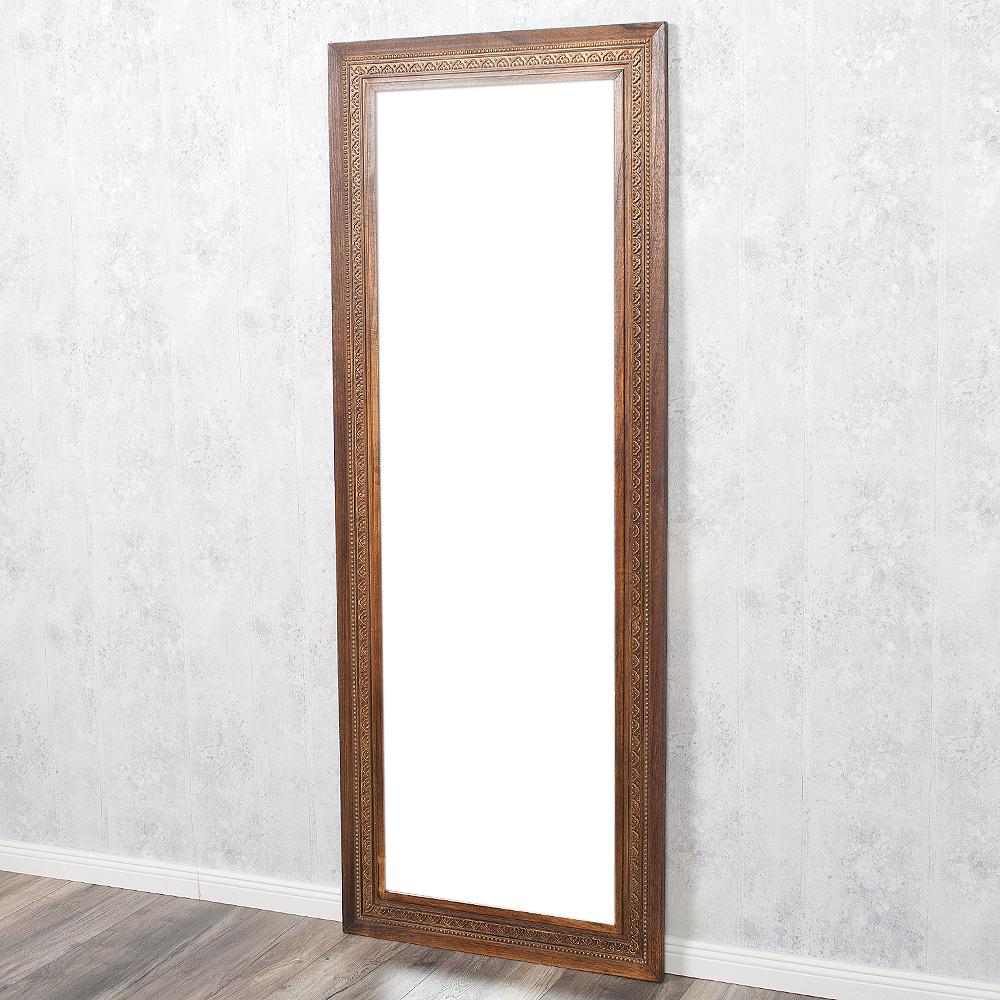 Spiegel ruby 160x60cm flamed wood blauglockenbaum holz for Spiegel 160x60