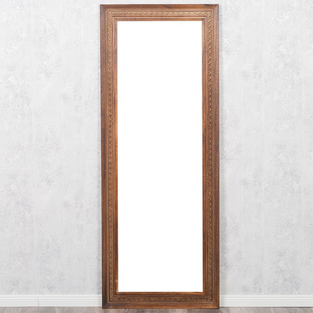 spiegel ruby 160x60cm flamed wood blauglockenbaum holz massiv wandspiegel ebay. Black Bedroom Furniture Sets. Home Design Ideas