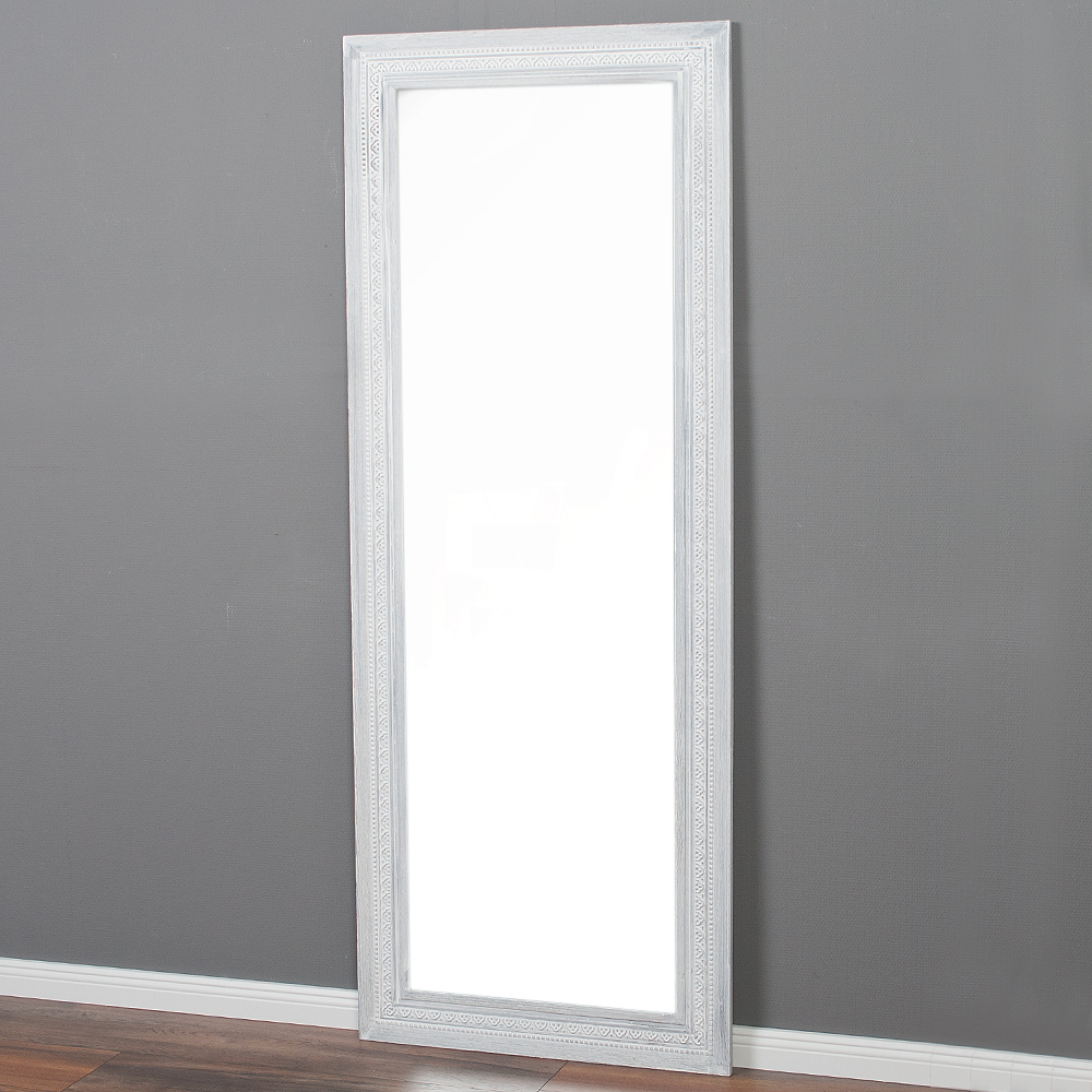 Spiegel ruby 160x60cm white washed blauglockenbaum holz for Spiegel 160x60