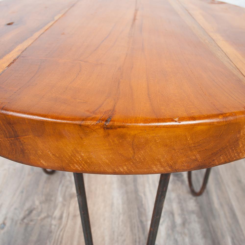 teakholz couchtisch beistelltisch james ca 50cm massivholz baumscheibe metall ebay. Black Bedroom Furniture Sets. Home Design Ideas