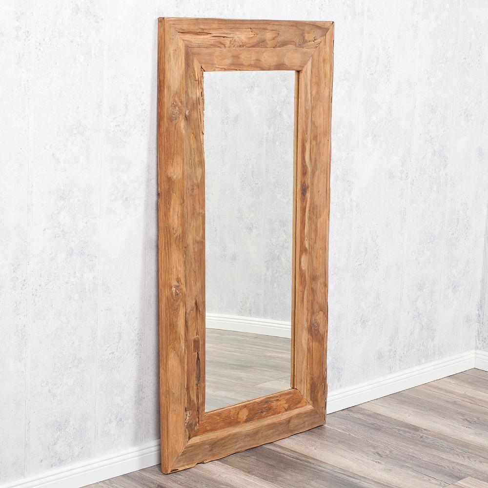 wandspiegel teak ca 120x60cm recyceltes teakholz spiegel 6594. Black Bedroom Furniture Sets. Home Design Ideas
