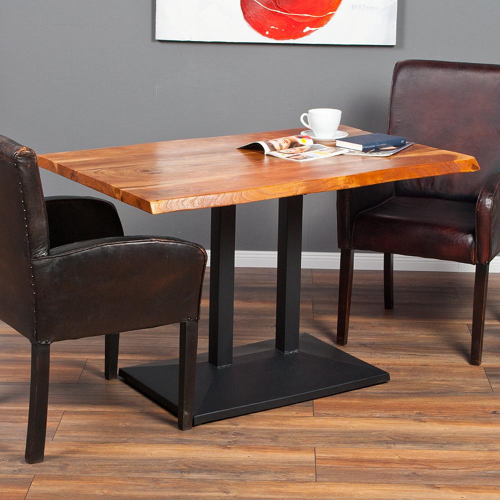 Schön Esstisch Holz Metall Galerie Von Corrente 120x80cm Massive Akazie / Massivholz Tisch