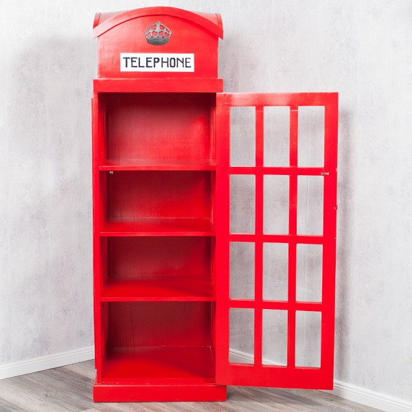 Vitrine / Bücherregal TELEPHONE aus Mahagony Antique Red 180cm – Bild 2