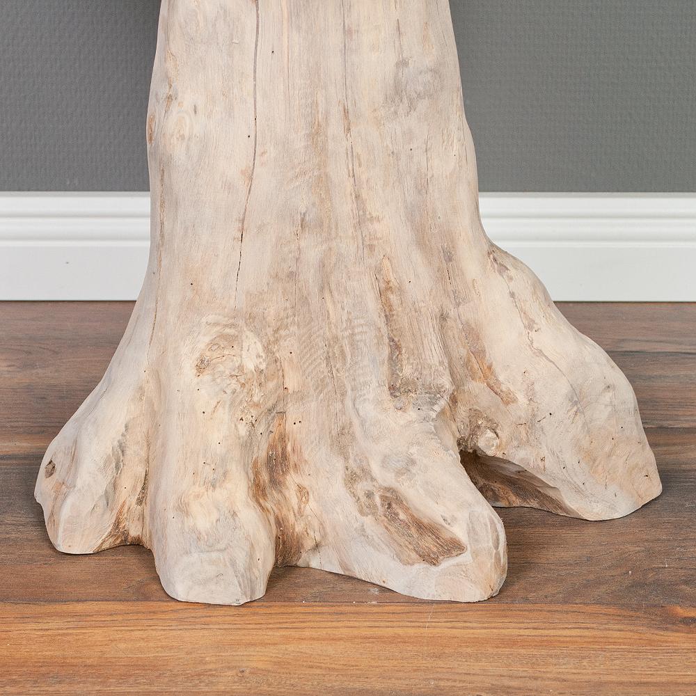 Beistelltisch fungo c natural grey ca 50cm aus massivem for Beistelltisch c form