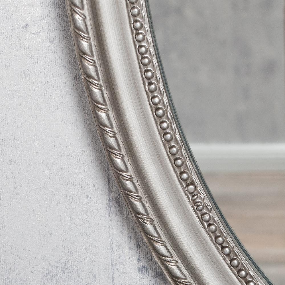 spiegel nerina 90x60cm silber antik oval 6683. Black Bedroom Furniture Sets. Home Design Ideas