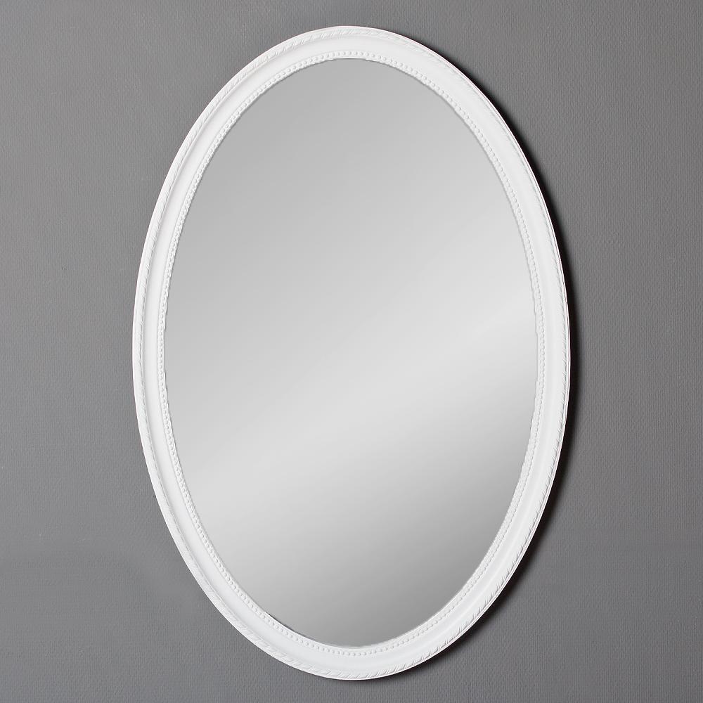 Spiegel nerina 90x60cm wei matt oval 6684 for Spiegel oval silber