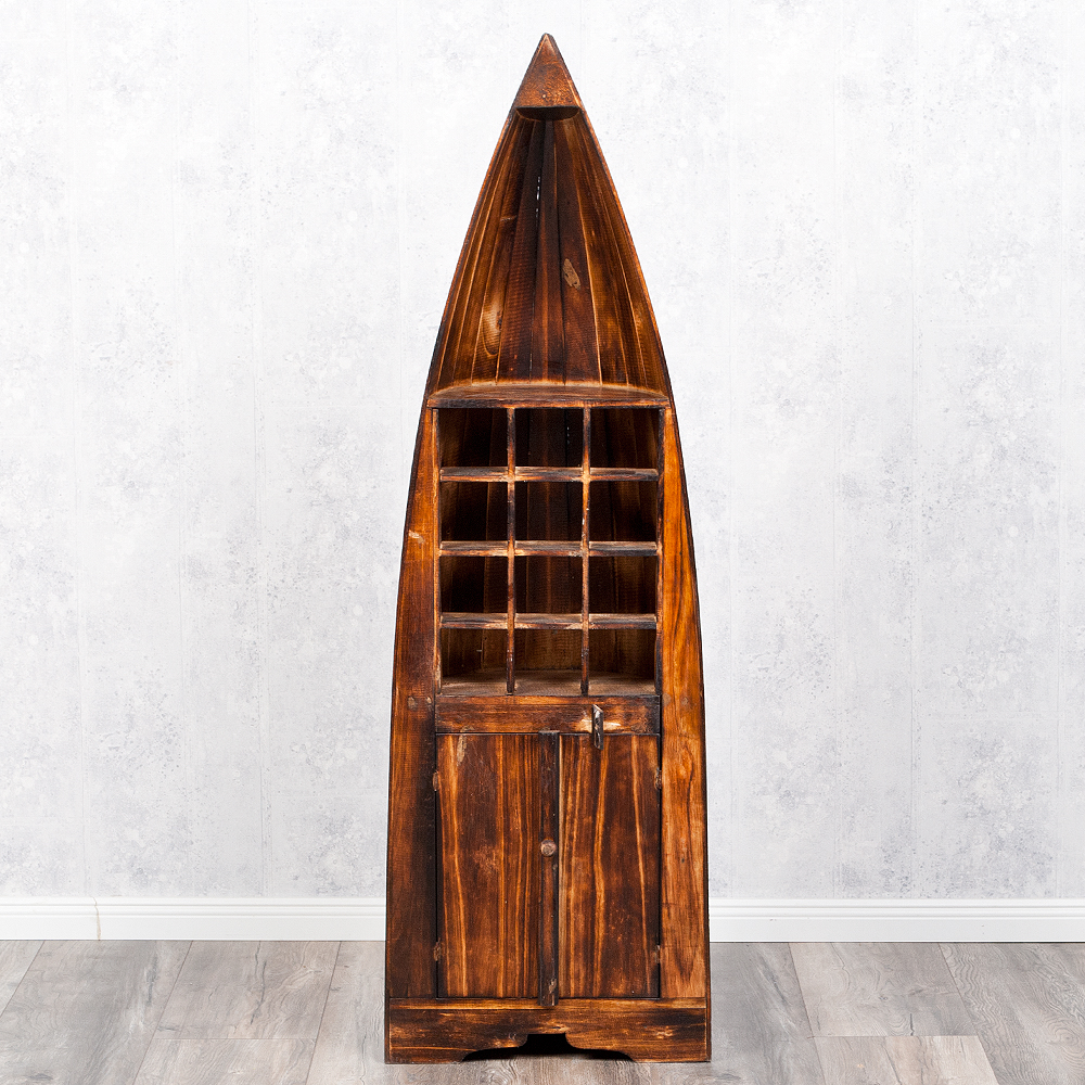 bootsregal weinregal pintu geflammt 150cm regal b cherregal boot deko shabby ebay. Black Bedroom Furniture Sets. Home Design Ideas
