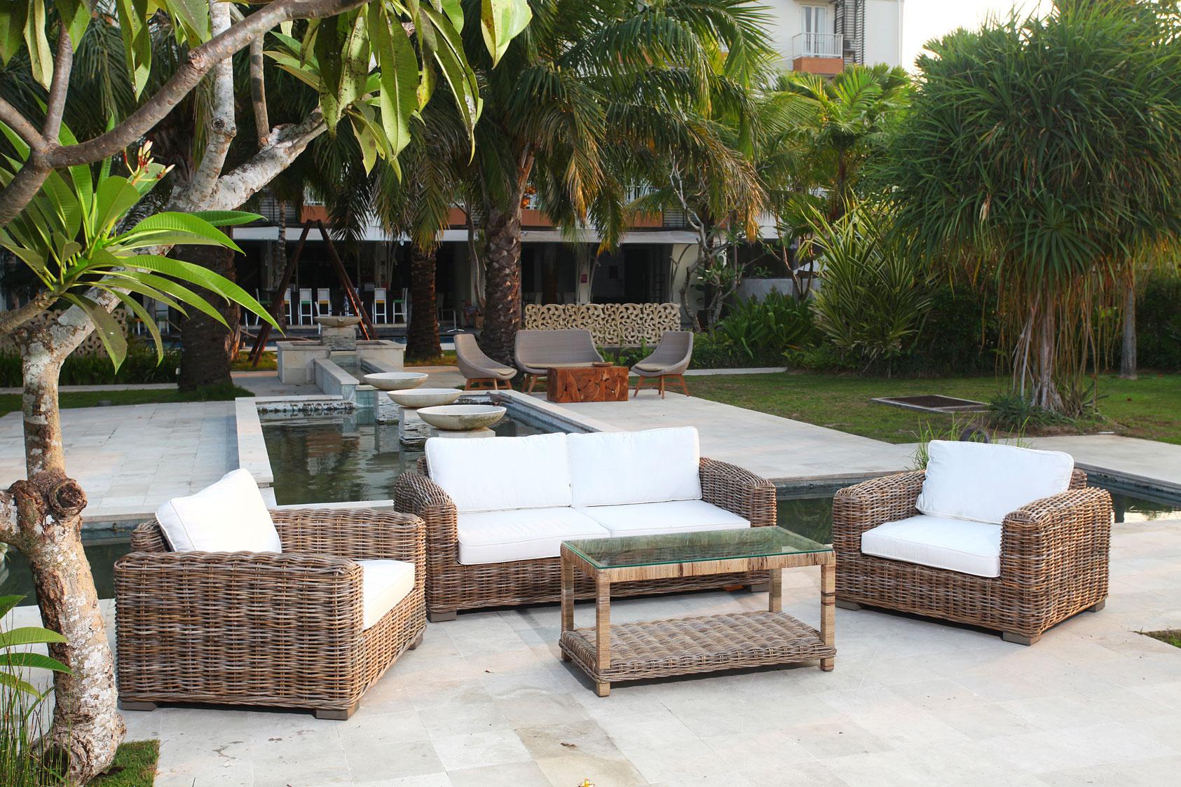 4tlg loungem bel set sitzgruppe living aus rattan in kubu grey 6722. Black Bedroom Furniture Sets. Home Design Ideas
