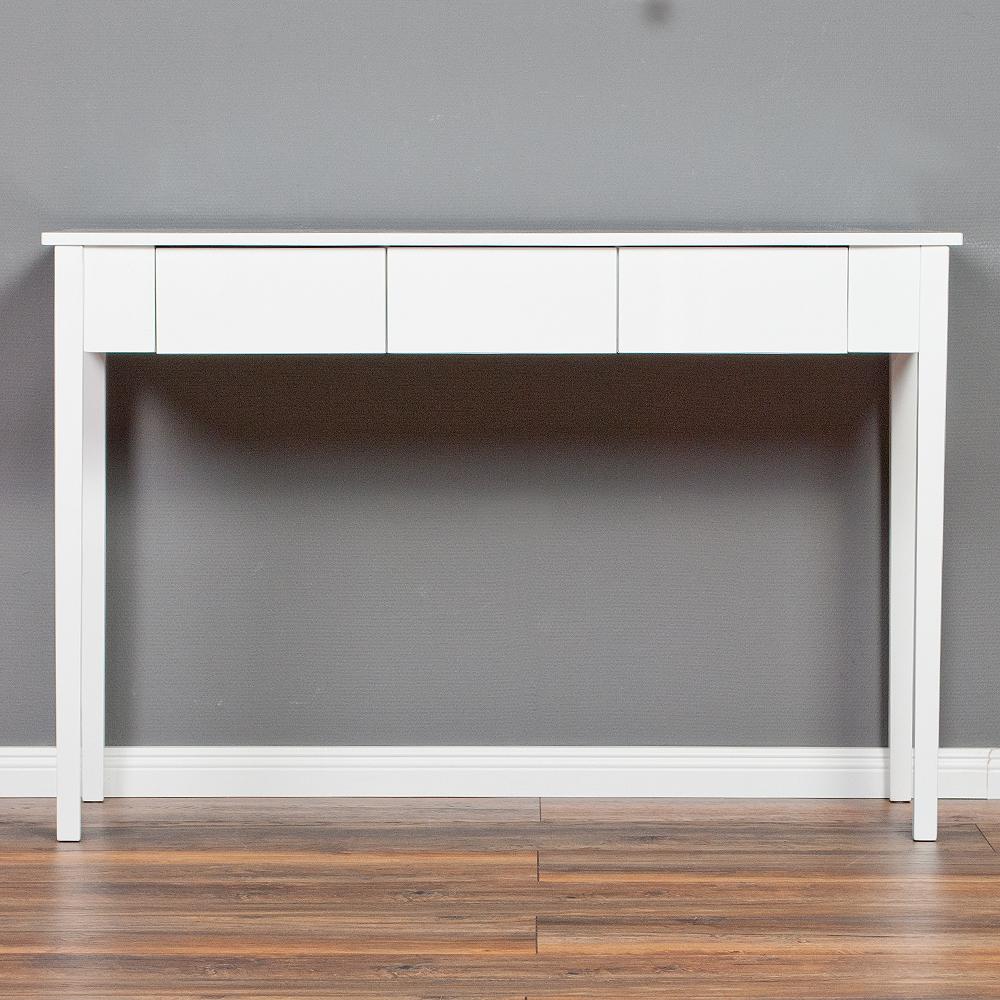konsolentisch charlie mit drei schublade hochglanz wei konsole anrichte board ebay. Black Bedroom Furniture Sets. Home Design Ideas